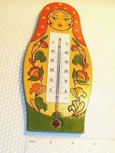 70's Vintage Retro Russian Soviet Authentic Babushka Matryoshka Wall Thermometer | eBay