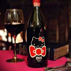 Valentines Day is right around the corner! Celebrate in supercute style with Hello Kitty Wine. Now available at Total Wine 🍷 Hello Kitty, February 2018 Hello Kitty Wine, Life Is Beautiful Festival, Pinot Noir, Betty Boop, Red Wine, Valentines Day, Alcoholic Drinks, Bottle, Fans