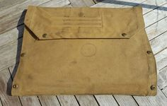 WWII British Military Army Dispatch Rider's Canvas Webbing Map Case & Maps 1940s
