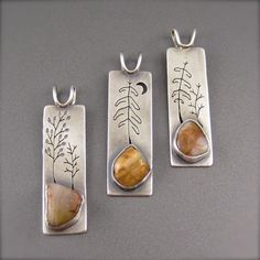 Beth Millner Jewelry - Pendants with Lake Superior agates