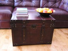 Gold Rush Steamer Trunk Wood Storage Wooden Treasure Chest - Large  - Click image twice for more info - See a larger selection of  coffee tables with storage at http://zcoffeetables.com/product-category/coffee-tables-with-storage/ - home, home decor, home ideas, home furniture, office furniture, table, gift ideas, living room