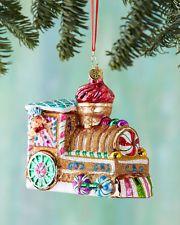 Christopher Radko Sugar Choo Choo Christmas Ornament