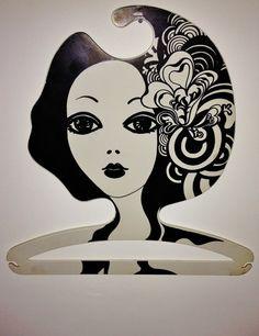 Vintage Retro Mod Girl 1970s Boutique POP ART by DesignforDelight