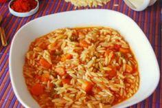 """Η μανέστρα κολοπίμπιρι ή μπούρου - μπούρου, είναι ένα παραδοσιακό πιάτο της κορφιάτικης κουζίνας. Η μανέστρα παραπέμπει στο ιταλικό μινέστρα, δηλαδή σούπα που περιέχει ζυμαρικό, ενώ το κολοπίμπιρι, απο το βενετσιάνικο collu pimpiri, σημαίνει """"με πιπέρι"""" Main Dishes, Rice, Pasta, Ethnic Recipes, Food, Gastronomia, Main Courses, Entrees, Essen"""