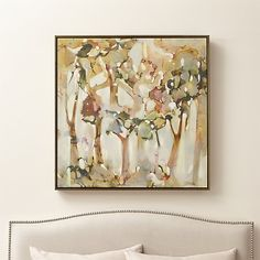 Reflection Trees Canvas Print | Crate and Barrel