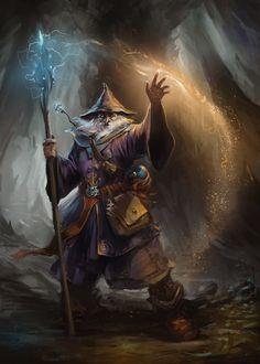 Wizard by ~gerezon on deviantART Niet het thema, maar de uitstraling en de tas spreken mij aan