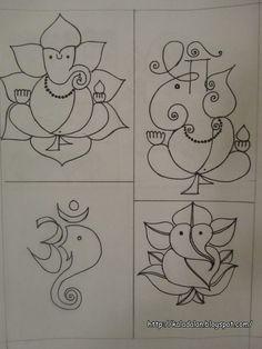 Kala Dalan: Ganesha inspired Rangoli Patterns