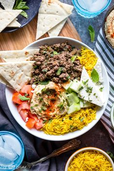 Mediterranean Lamb Bowls - Fox and Briar Dinner Recipes lamb recipes Easy Lamb Recipes, Ground Lamb Recipes, Chicken Soup Recipes, Greek Recipes, Easy Dinner Recipes, Easy Meals, Cooking Recipes, Healthy Recipes, Healthy Food