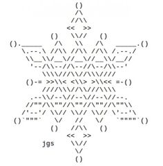 ASCII Snowflakes (also star shapes) by jgs <<< ??