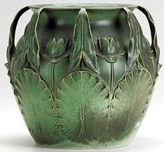 Gorgeous Teco vase. Sold for over 18,000 at auction in 2010. Rookwood Pottery - lily jardinere