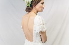 Backless lace wedding dress by Kate Beaumont