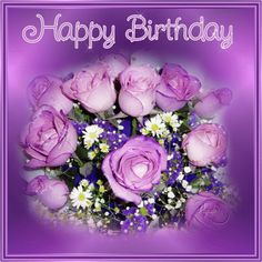 10 Happy Birthday Quotes With Beautiful Images - Geburtstag Happy Birthday Cousin Girl, Purple Happy Birthday, Happy Birthday Video, Birthday Girl Quotes, Happy Birthday Flower, Happy Birthday Beautiful, Birthday Roses, Happy Birthday Images, Birthday Gifs