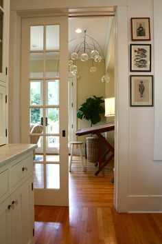 interior hall glass doors | ... glass door pebble tile pocket door recessed Image by: Pelican