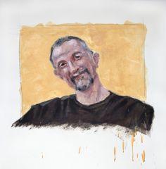 Willie Encaustic Portrait by Kara Brook