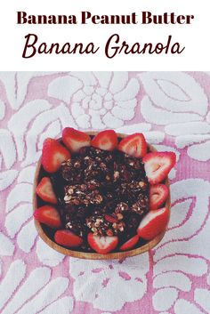 Stop buying sugary granola and make this #healthy Banana Peanut Butter and Chocolate Granola! #glutenfree #dairyfree #granola #vegan