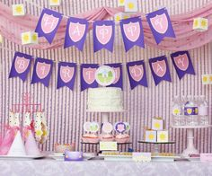 Tangled Princess mesa de postres partido