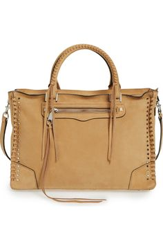 a476f8a0b4e6 Main Image - Rebecca Minkoff Regan Studded Leather Satchel Rebecca Minkoff  Regan