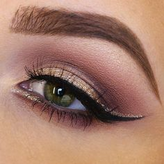 Glitter: Liquid Crystal Liner in 'Crystal Gold' || #nyxcosmetics