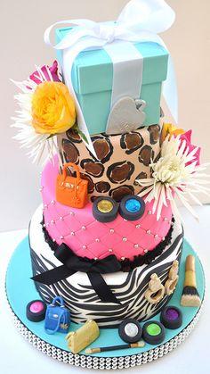 olgaki is calling: Fashion cakes and cupcakes! Pretty Cakes, Cute Cakes, Beautiful Cakes, Amazing Cakes, Fancy Cakes, Diva Birthday Cakes, Zebra Birthday, Barbie Birthday, Teen Birthday