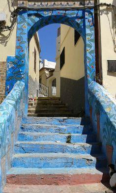 Arabic blue- Medina, tanger