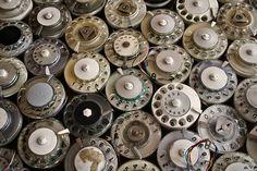 Vintage telephone dials