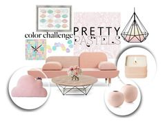 """""""Pretty Pink Pastel at Home"""" by neringa-ltu ❤ liked on Polyvore featuring interior, interiors, interior design, home, home decor, interior decorating, PTM Images, Graham & Brown, Henri Bendel and Diane James"""