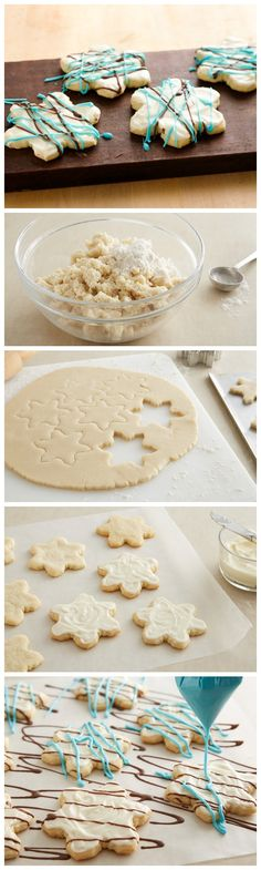 Get all the flavors and fun of peppermint bark without the hassle with these cute snowflake cookies made with Pillsbury cookie dough!