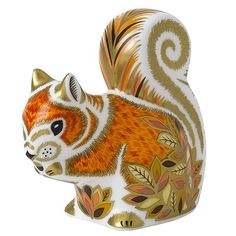 Royal Crown Derby's charming Autumn Squirrel, hand-finished with 22-carat gold.