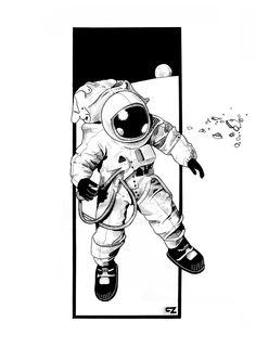 Astronaut [WIP] (2014) by gabrielezannotti.deviantart.com on @DeviantArt