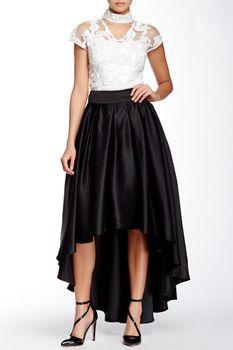 Gracia Hi-Lo Flare Skirt