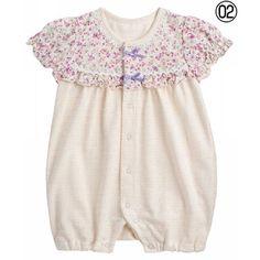 Caramel天竺ジャガード花柄ショートオールのクリーム70cm(42・28・9・7)の通販なら【赤すぐnet】/マタニティ・妊婦から赤ちゃん/ベビー服・子供服の通販