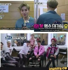 I watched this! It was hilarious! You guys, let Suho live!!! RLAB