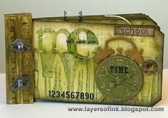 Layers of ink: School Time Green Ruler Book http://layersofink.blogspot.com/2013/07/school-time-green-ruler-book.html