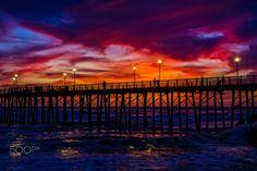 Stunning Sunset in Oceanside - April 25, 2017 - Oceanside Pier         April 25, 2017                      ©2017 Rich Cruse / CrusePhoto.com