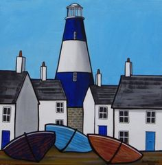helen warlow (@HWarlow) | Twitter - Oct 8 2016 - From British Naive Artists site is this delightful painting by artist Paul Bursnall. It's a new site for Naive art