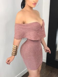 Fold-over Solid Bodycon Mini Dress Converted, figure-hugging mini dress Sexy Outfits, Dress Outfits, Cute Outfits, Fashion Outfits, Dress Fashion, Tight Dresses, Sexy Dresses, Cute Dresses, Mini Dresses