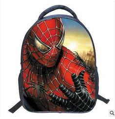 13 Inch Spiderman Cartoon Shoulder Bag Children Cartoon School Bags Kids  Kindergarten Backpack Boys Mochila Infantil 96a1b19364165