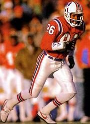 Stanley Morgan, New England Patriots Wide Receiver from 1977-1989