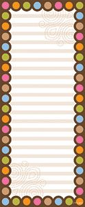 Dots on Chocolate Note Pad