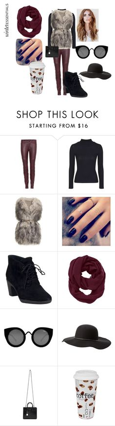 """""""Maroon and Black Winter Essentials"""" by zoey-boo ❤ liked on Polyvore featuring J Brand, Topshop, PINGHE, Lottie, Clarks, Athleta, Quay, Charlotte Russe, Yves Saint Laurent and Könitz"""
