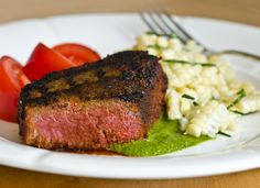 Grilled Spice-Rubbed Beef Tenderloin Filets with Chimichurri
