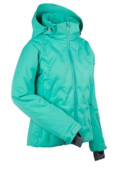 Women's ski and snowboard jacket. The Antonia, our pride and joy! This is a one of a kind, solid color, down jacket that is heat infused rather than stitched to ensure its waterproof reliability. So go for it, roll around in the snow and allow Antonia to work her magic keeping warm and dry all day. WATERPROOF- 20,000mm. BREATHABLE- 15,000g.