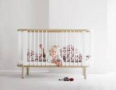 Leuk Kinderbedje Ovaal Naturel Inclusief Matras en Hoes van Flexa - De Kleine Generatie