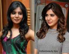 Samantha Prabhu's 30 Trendy Hairstyles - Indian Beauty Tips South Indian Hairstyle, Indian Hairstyles, Celebrity Hairstyles, Trendy Hairstyles, Bollywood Hairstyles, Traditional Hairstyle, Indian Party Wear, Blonde Highlights, Curly Hairstyle