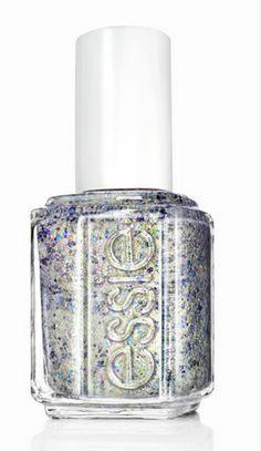 This nail polish looks like a million bucks. essie® 'On a silver platter' Nail Polish Best Nail Polish, Essie Nail Polish, Glitter Nail Polish, Nail Polish Colors, Glitter Makeup, Nail Polishes, Lip Makeup, Gel Polish, Love Nails