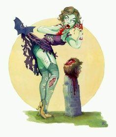 Zombie Pin Up Art