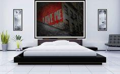 NYC street. Graffiti fine art PRINT. Valentine's Day by Key2MyArt