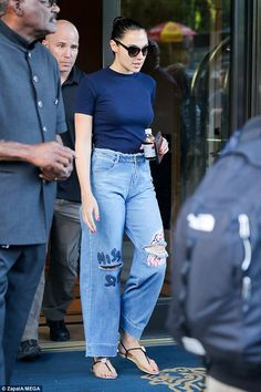 Gal Gadot steps out of New York hotel make-up free #dailymail