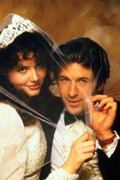 "Geena Davis and Alec Baldwin as Barbara & Adam Maitland from ""Beetlejuice""."