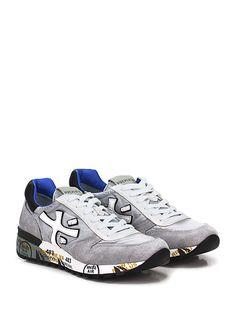 PREMIATA - Sneakers - Uomo - Sneaker in pelle, camoscio e tessuto tecnico con suola in gomma, tacco 40, platform 20 con battuta 20. - 1430 PERLA\BIANCO - € 195.00